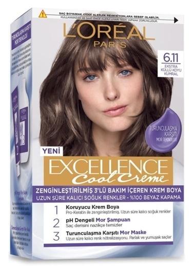 L'Oréal Paris Excellence Cool Creme 6.11 Numara Saç Boyası + ŞPampuan + Maske Renkli